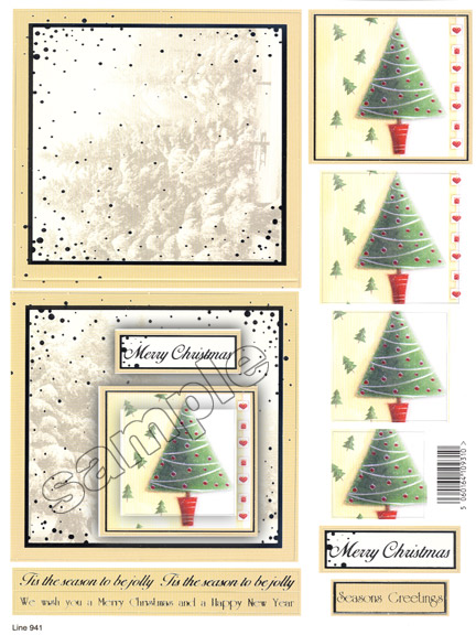 Ecstasy Crafts Craft Uk Card Kit Christmas Tree