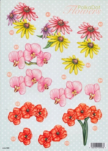 Craft UK 3D Precut - Polka Dot Florals