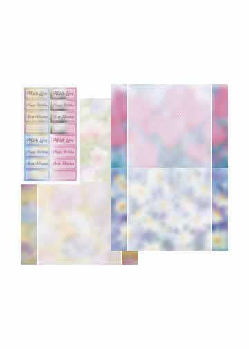 Metallic Designercards & Sayings Background Flowers & Silver 2