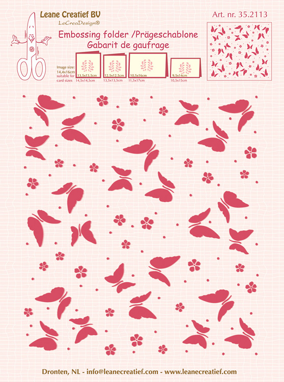 Embossing Folder Background Butterflies