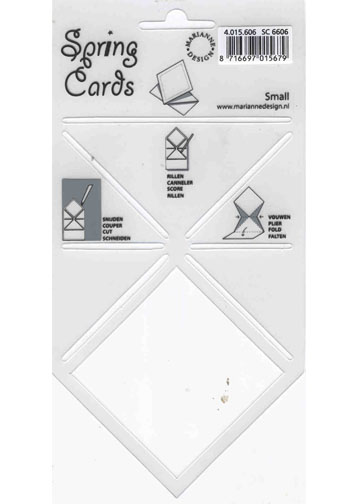 Spring Card Folding Template Small