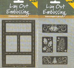 Stencils Lay Out Embossing - Bells