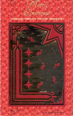 Ecstasy Crafts Merry Christmas Multi Stencil-Candle