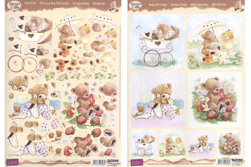 3D Precut Sheet Popcorn Bear Kids
