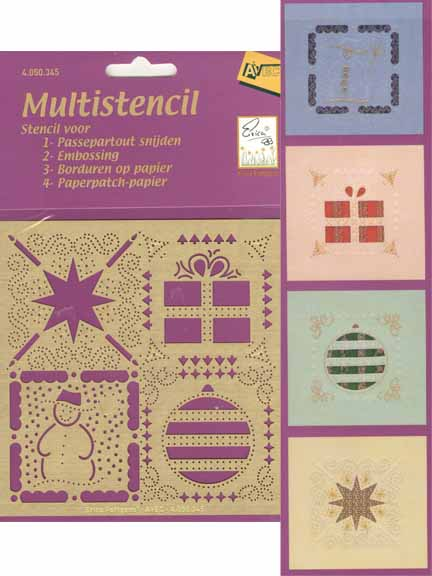 Embroidery Multi Stencil Christmas