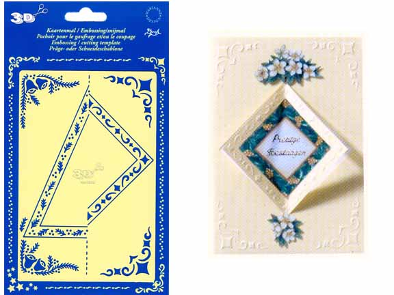 Ecstasy Crafts Double Stencil Cut Out Square/triangle(km3330)