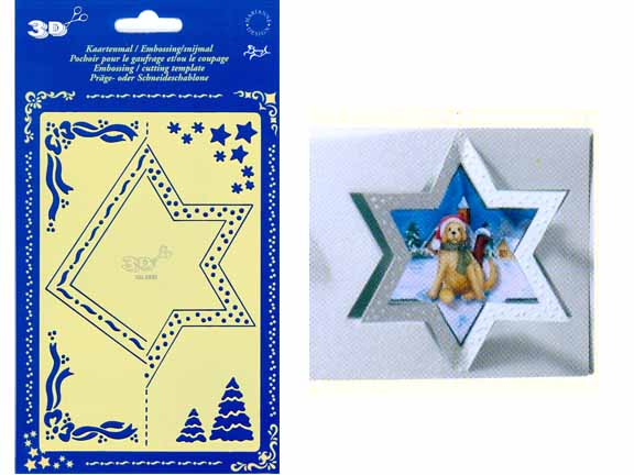 Stencils Double Template - Star (km3333)