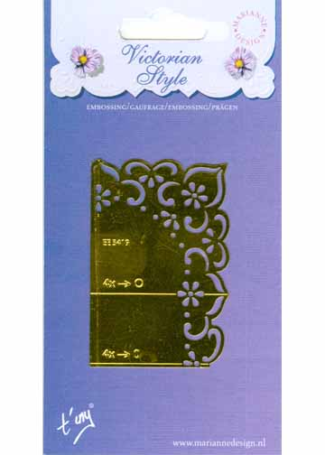 English Embossing Stencil - Flowers