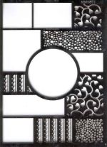 Ecstasy Crafts Switch Embossing Stencil - Circle (mm0501)