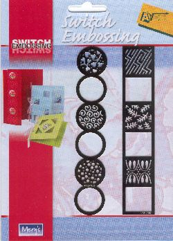 Ecstasy Crafts Switch Embossing Stencil - Border Circle/square