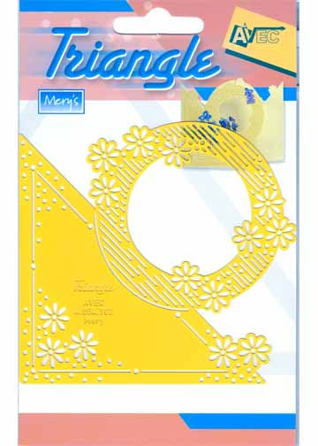 Stencils Triangle Stencil - Daisies With Circle