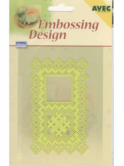 Stencils Embossing Design Rectangle With Square