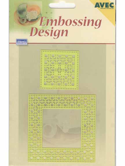 Ecstasy Crafts Embossing Design Template - Square Frame