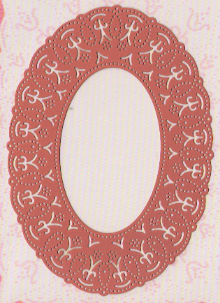 Ecstasy Crafts Ornare Vellum And Piercing Template - Oval (pr0560)