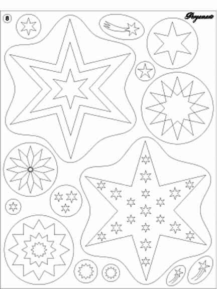 Ecstasy Crafts Clear Stamps - Stars
