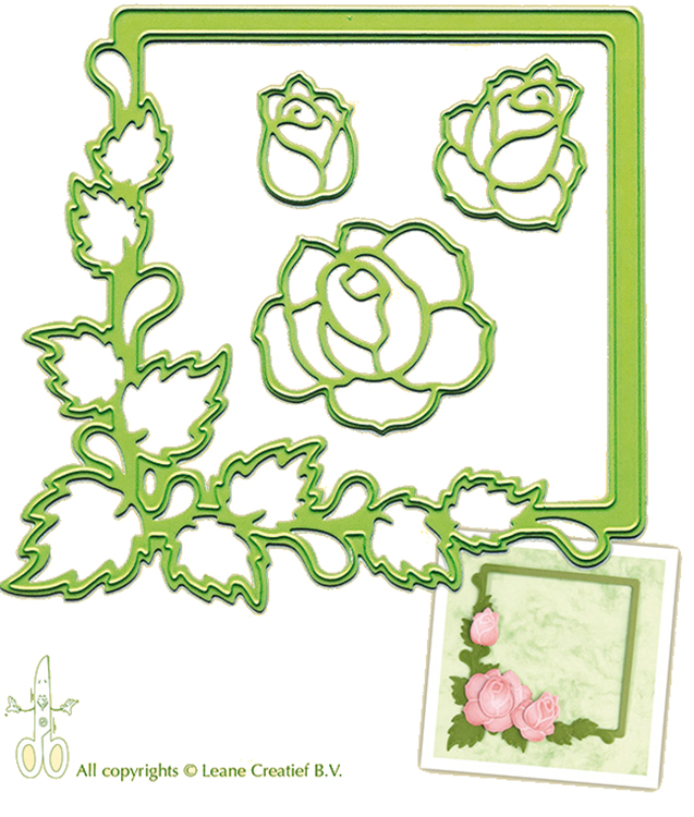 Lea'bilities Embossing And Cutting Die -  Frame Roses