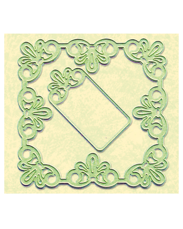 Lea'bilitie Die - ® Frame Square Lace Cut And Embossing Die