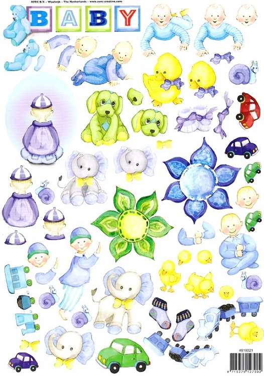 Ecstasy Crafts Set Of 3 Baby Cutting Sheets