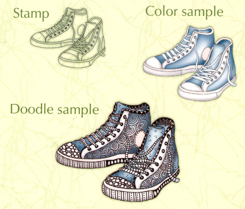Leane Creatief Doodle Clear Stamp Sneakers