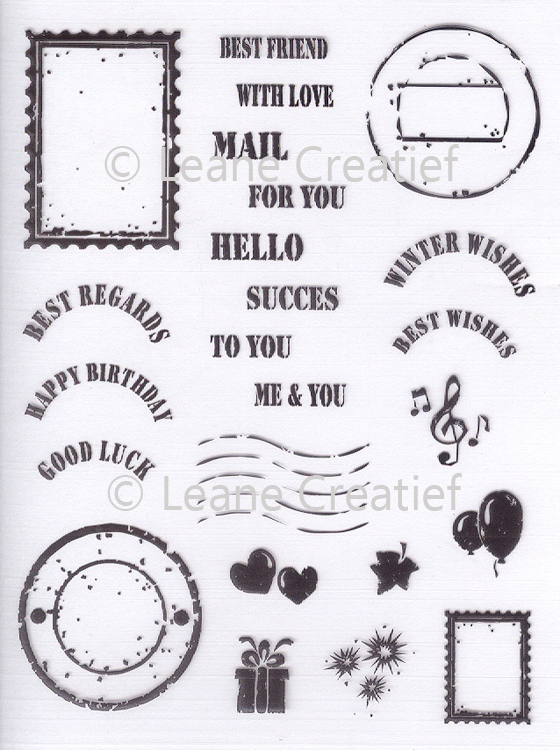 Lecreadesign® Clear Stamp Mail