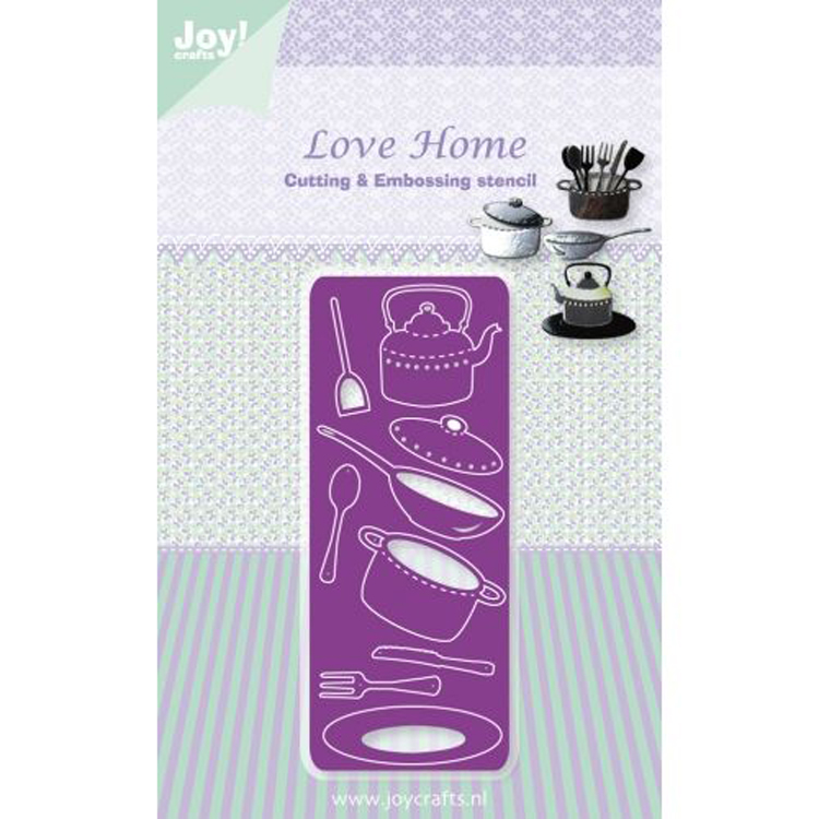 Joy! Crafts Dies - Love Home - Cutlery And Pans