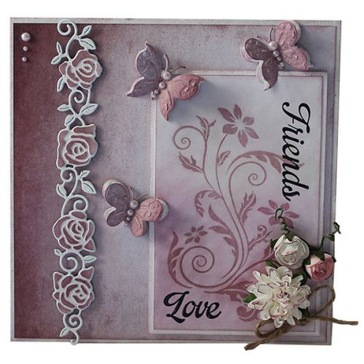 Joy! Crafts Cutting And Embossing Die - Rose Border