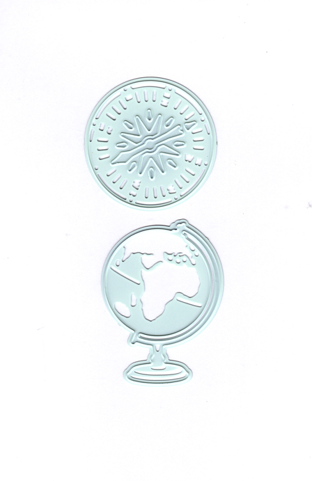 Cutting And Embossing Dies-Globe/compass
