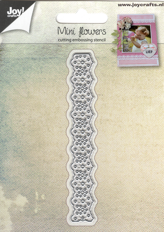 Ecstasy Crafts Joy! Crafts Die -Mini Flower Lace Border