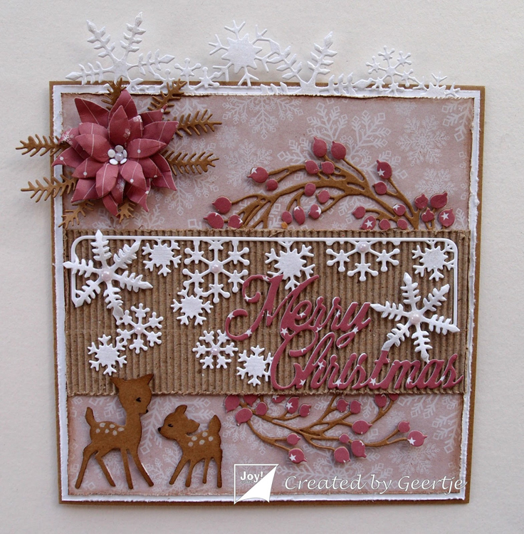 Ecstasy Crafts Joy! Crafts Die - Merry Christmas With Snowflakes
