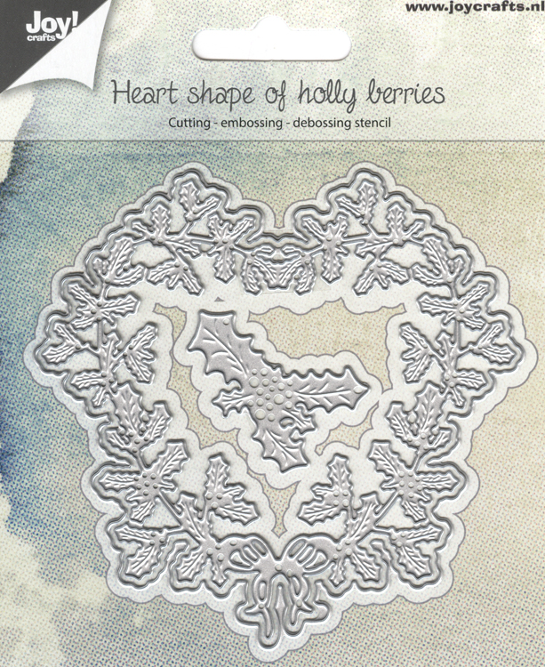 Ecstasy Crafts Joy! Crafts Die -Heart Shape Of Holly Berries