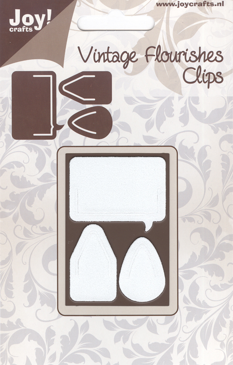 Joy Crafts Cutting Die - Vintage Flourishes Clips (3Pc)