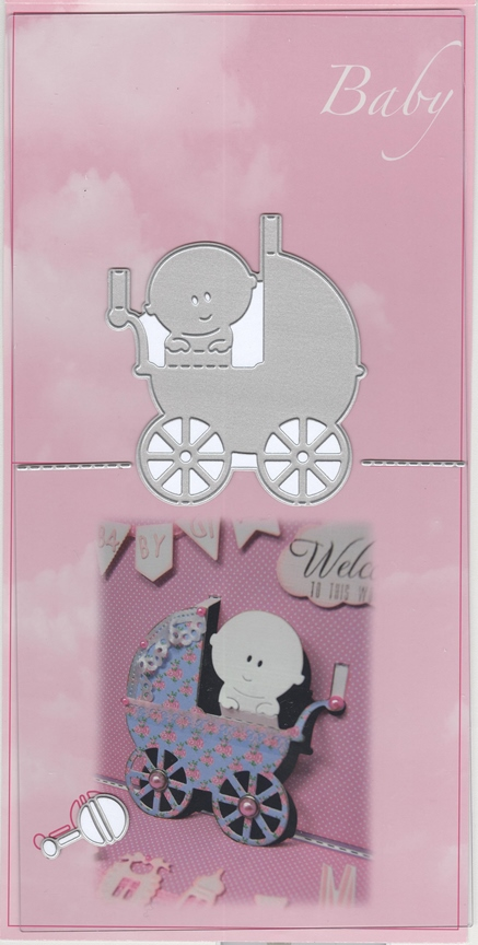 Ecstasy Crafts Joy! Crafts Pop Up Dies - Baby In Stroller
