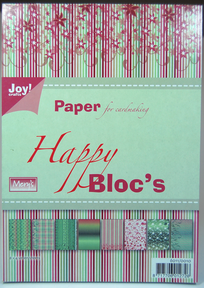 Joy! Crafts Paper Block - Paper Bloc  - Happy Green And Burgundy