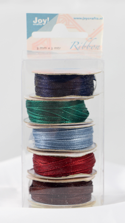 Ecstasy Crafts Organza 3Mm Ribbon -Box Of 5 -Burgundy Colours
