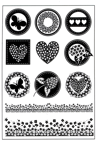 Clear Stamps - Button Sayings