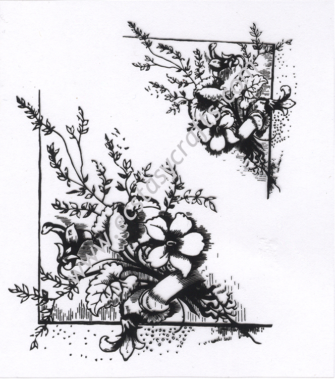 Clear Stamp - Flower Corners