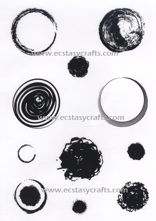 Ecstasy Crafts Joy! Crafts - Clearstamp - Round Grunge