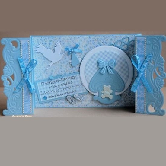 Ecstasy Crafts Marianne Design: Collectables Die & Stamp Set - Stork
