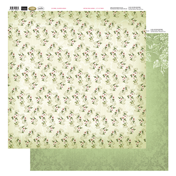 12 X12 Patterned Paper  - Blooms In Green - Vintage Rose Collection (5)