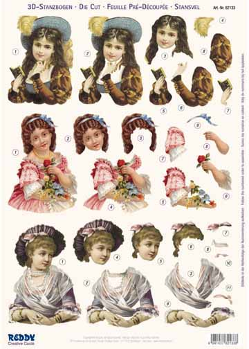 3D Precut Victorian Ladies