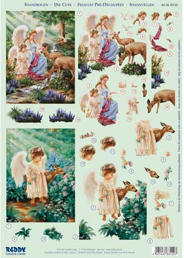 3D Precut - Little Angel With Fawn