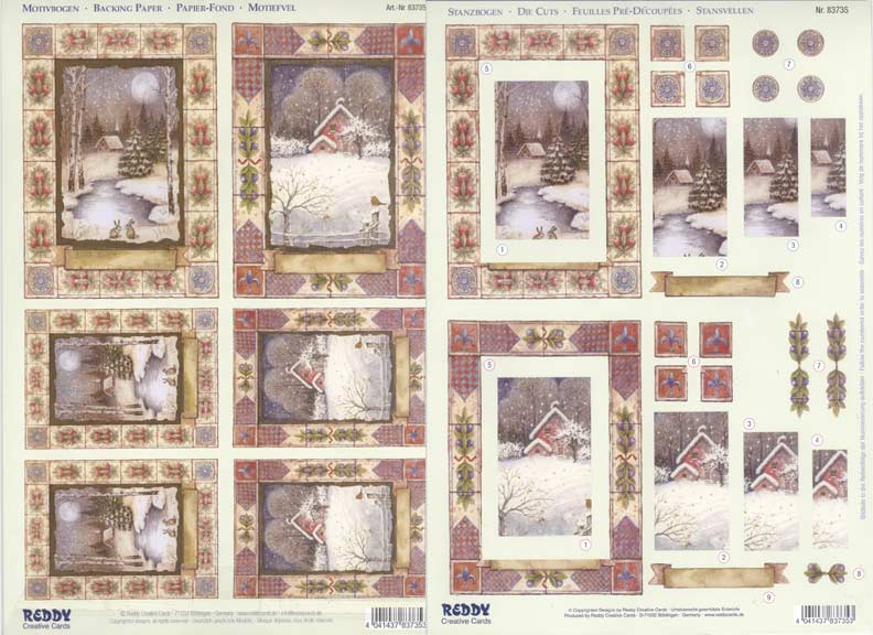 Reddy 3d Precut Sheet - Winter In The Country