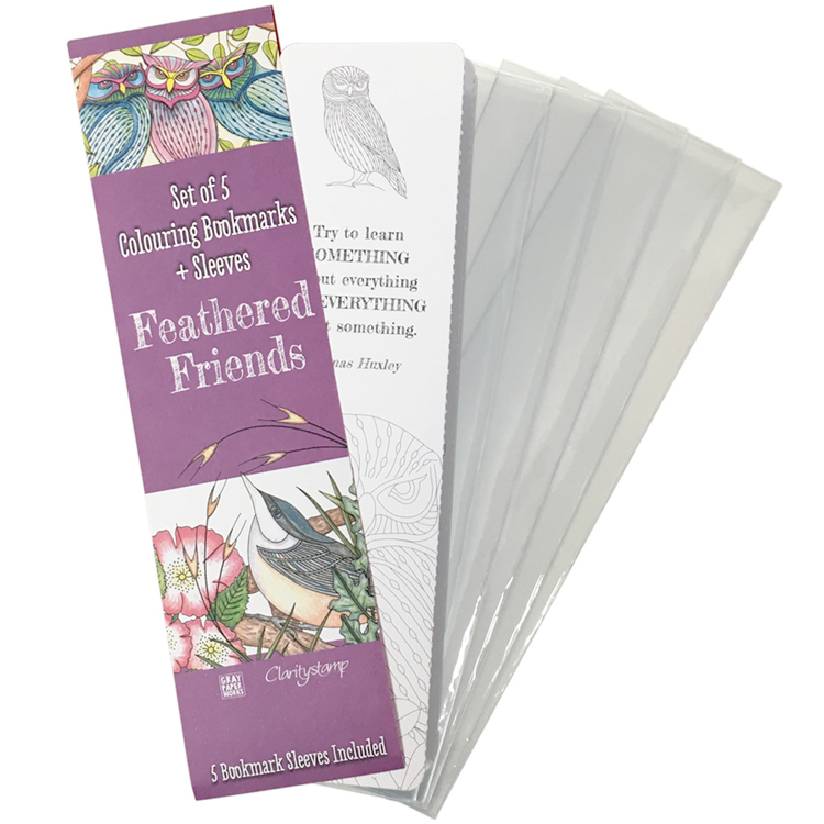 Ecstasy Crafts Clarity Stamps - Feathered Friends - Bookmarks Collection