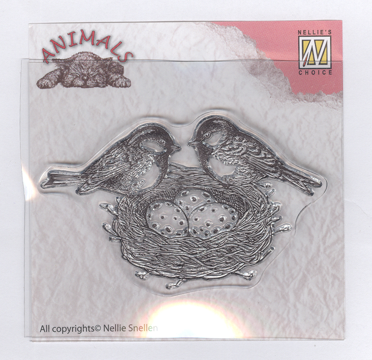 "Nellie's Choice Clear Stamps Animals-Serie ""birdsnest"""