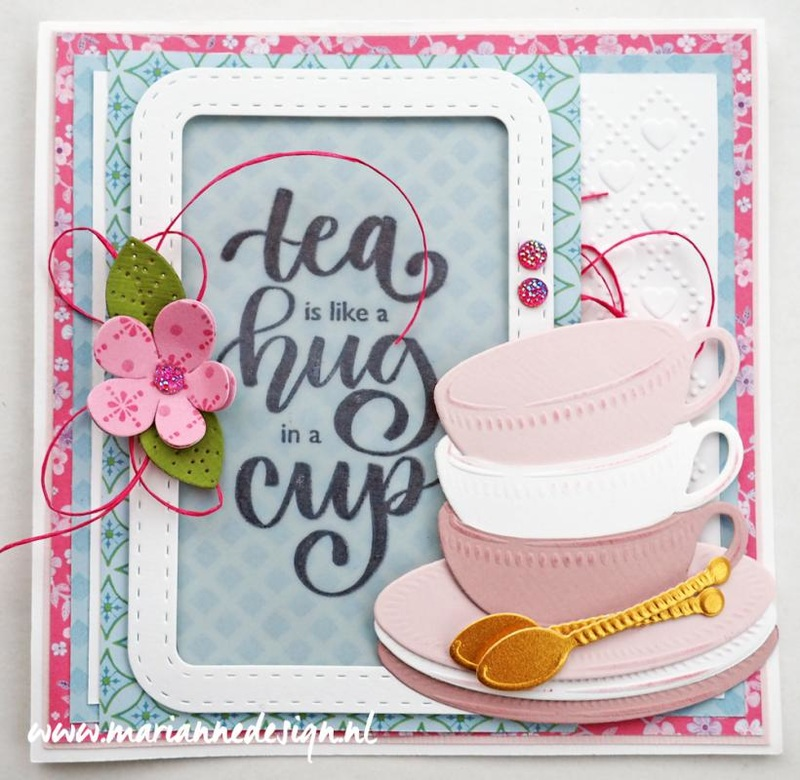 Ecstasy Crafts Marianne Design: Craftables Dies - Tea Cup With Spoon