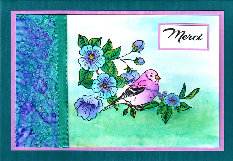 Blossom Finch Fr. Acrylic Stamps