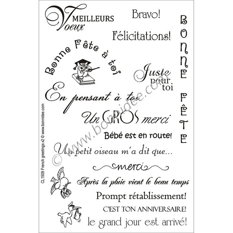 Fr. Greetings #2 Acrylic Stamps