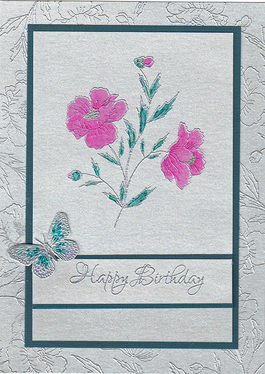 Ecstasy Crafts Bonnidee Stamps -Poppy #1 Eng