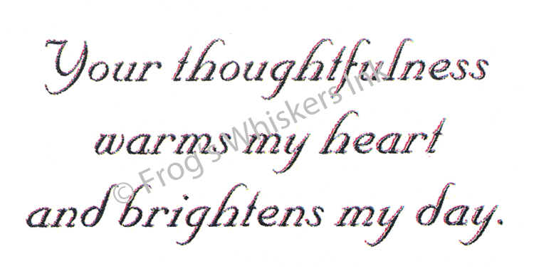 Frog's Whiskers Ink Frog's Whiskers Stamps - Your Thoughtfulness