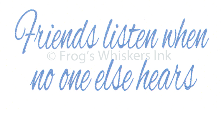 Frog's Whiskers Ink Frog's Whiskers Stamps - Friends Listen